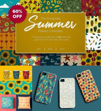 Summer patterns prints set