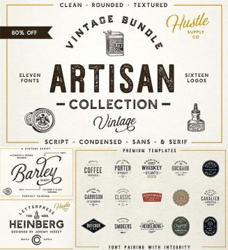 Artisan font bundle with bonus
