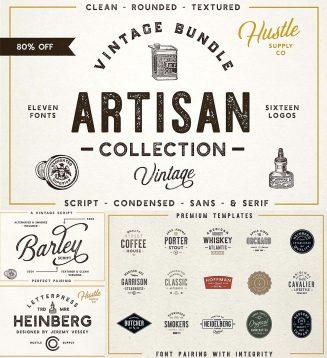 Artisan font bundle with bonus