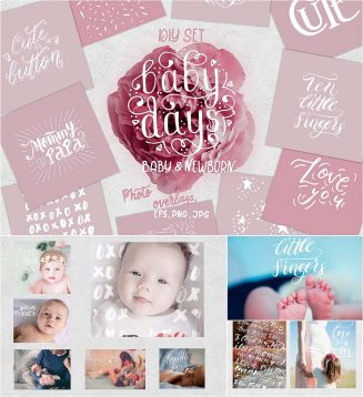 Newborn baby quotes overlays