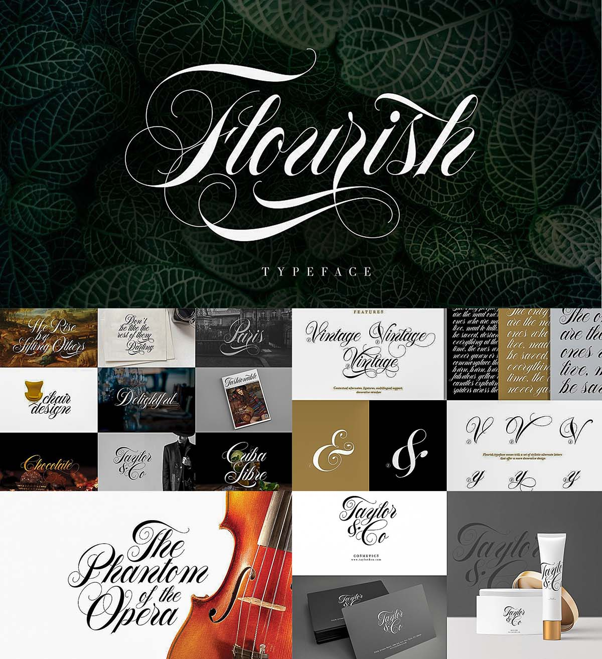 Flourish font