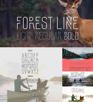 Forest line font