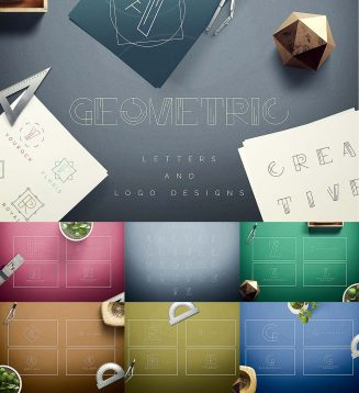 Geometric letters and logos