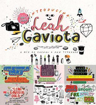 Leah gaviota font family