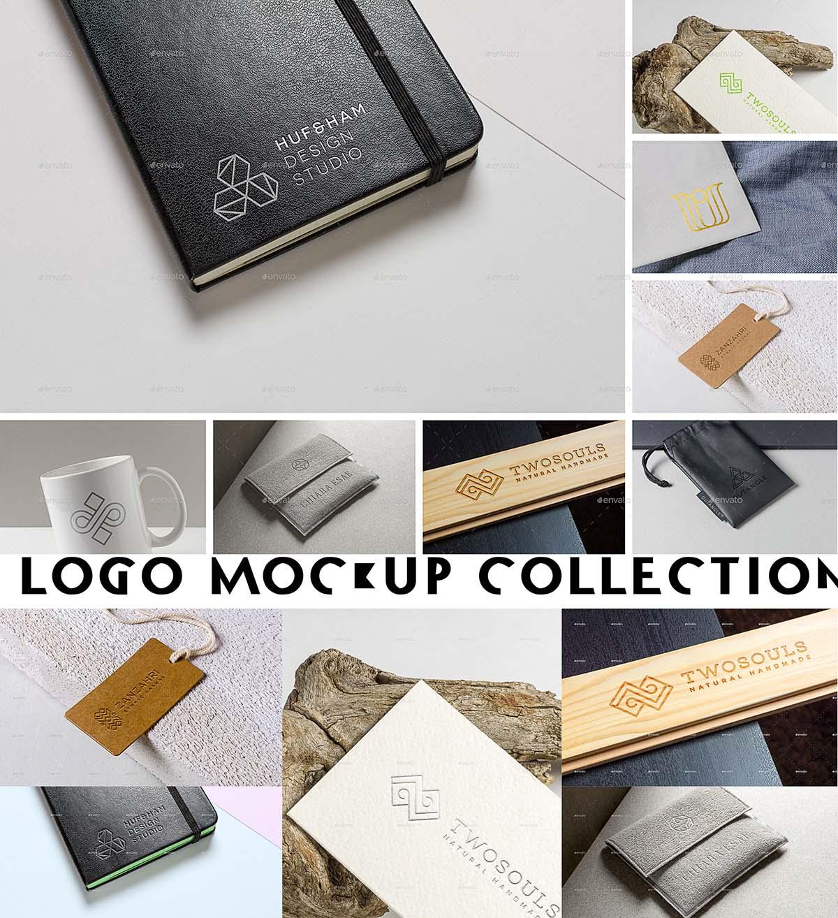 Logo mockups set