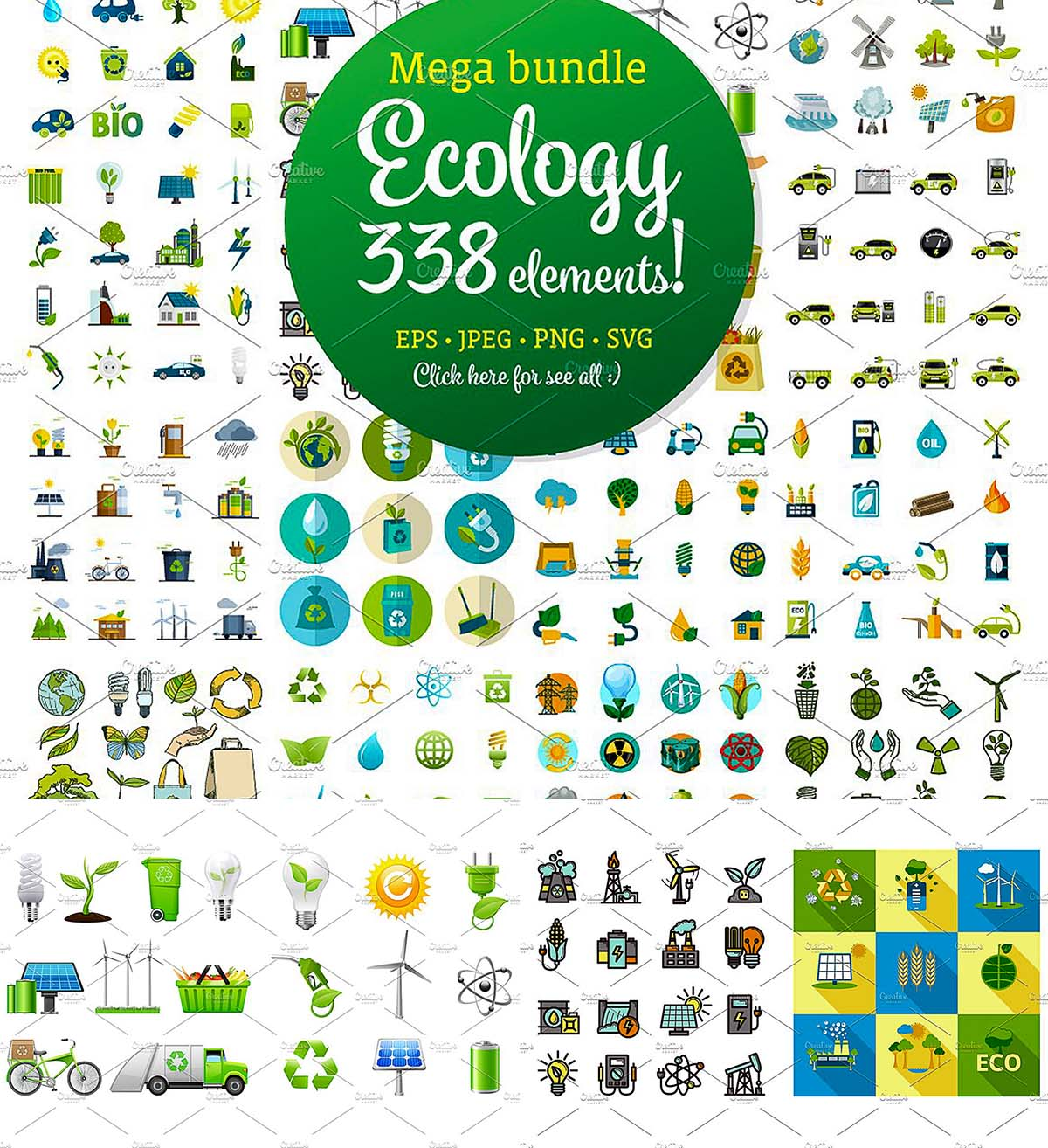 Ecology icons mega set