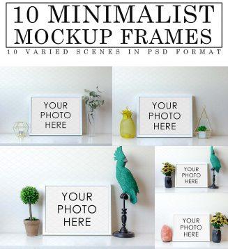 10 Minimalist mockup frames