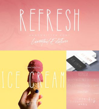 Refresh font limited edition