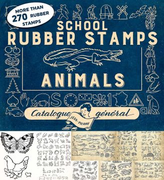 Rubber stamps animals bonus