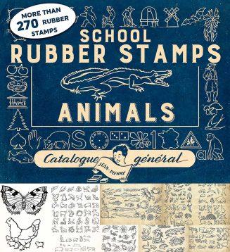 Rubber stamps animals bonus