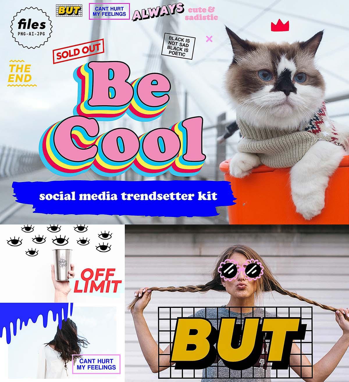 Social media trendsetter stickers