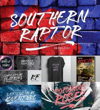 Southern raptor display font