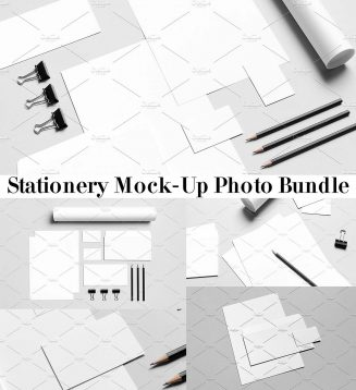 Stationery mockups stock photo