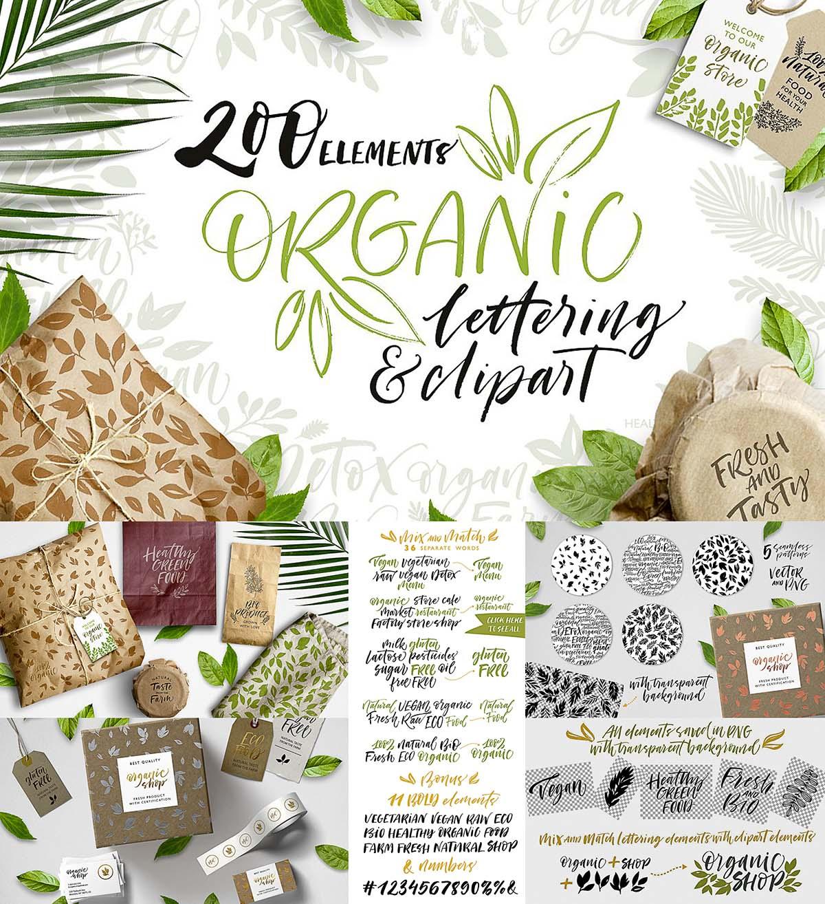 Organic lettering set