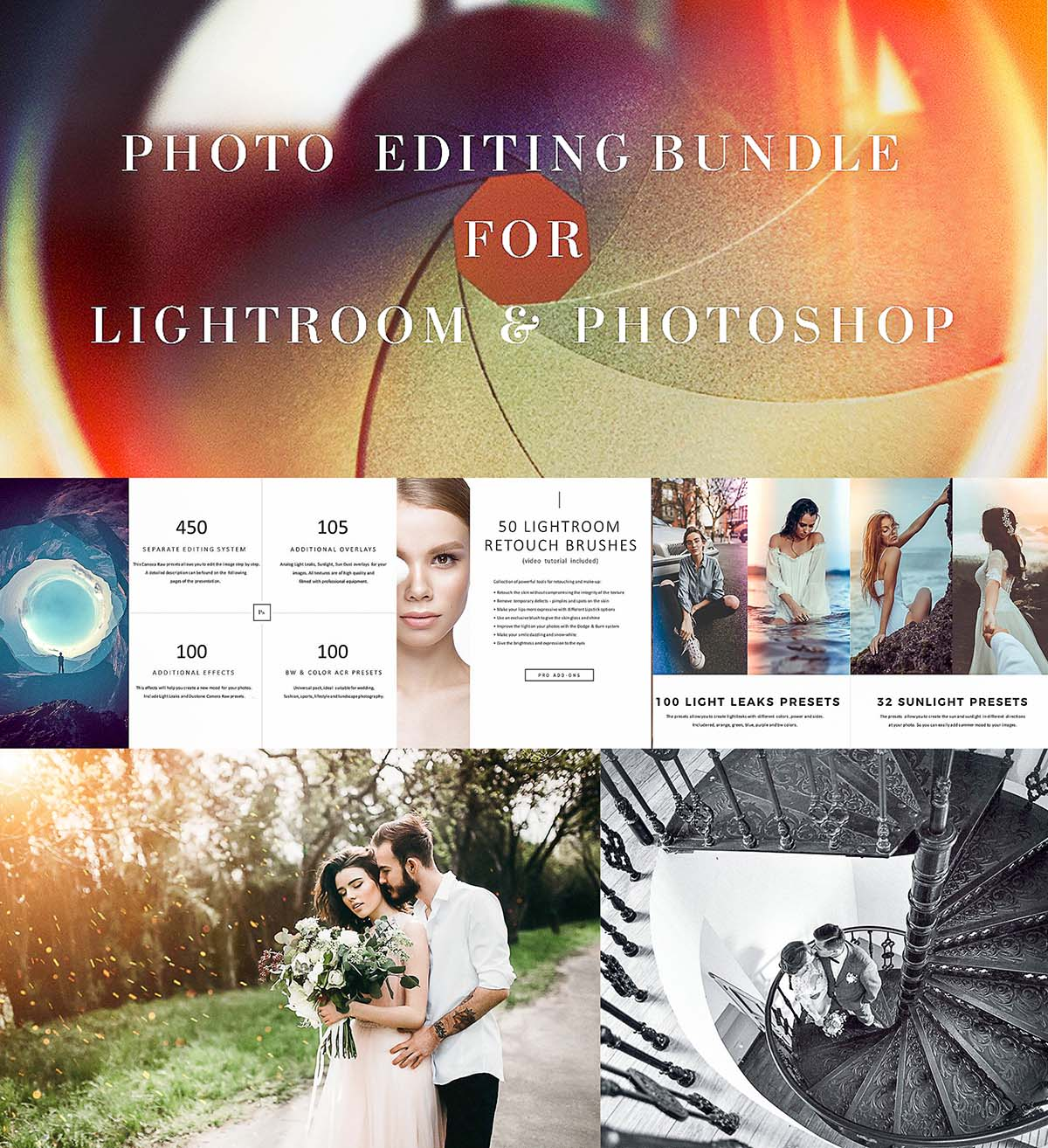 Photo editing 1555 items bundle