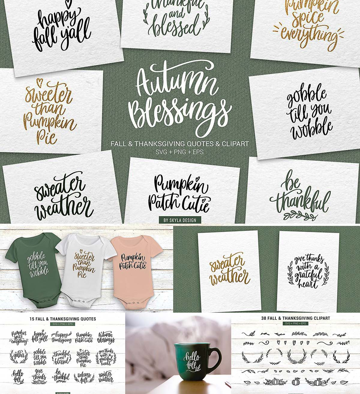 Fall Thanksgiving Quotes Clipart Free Download