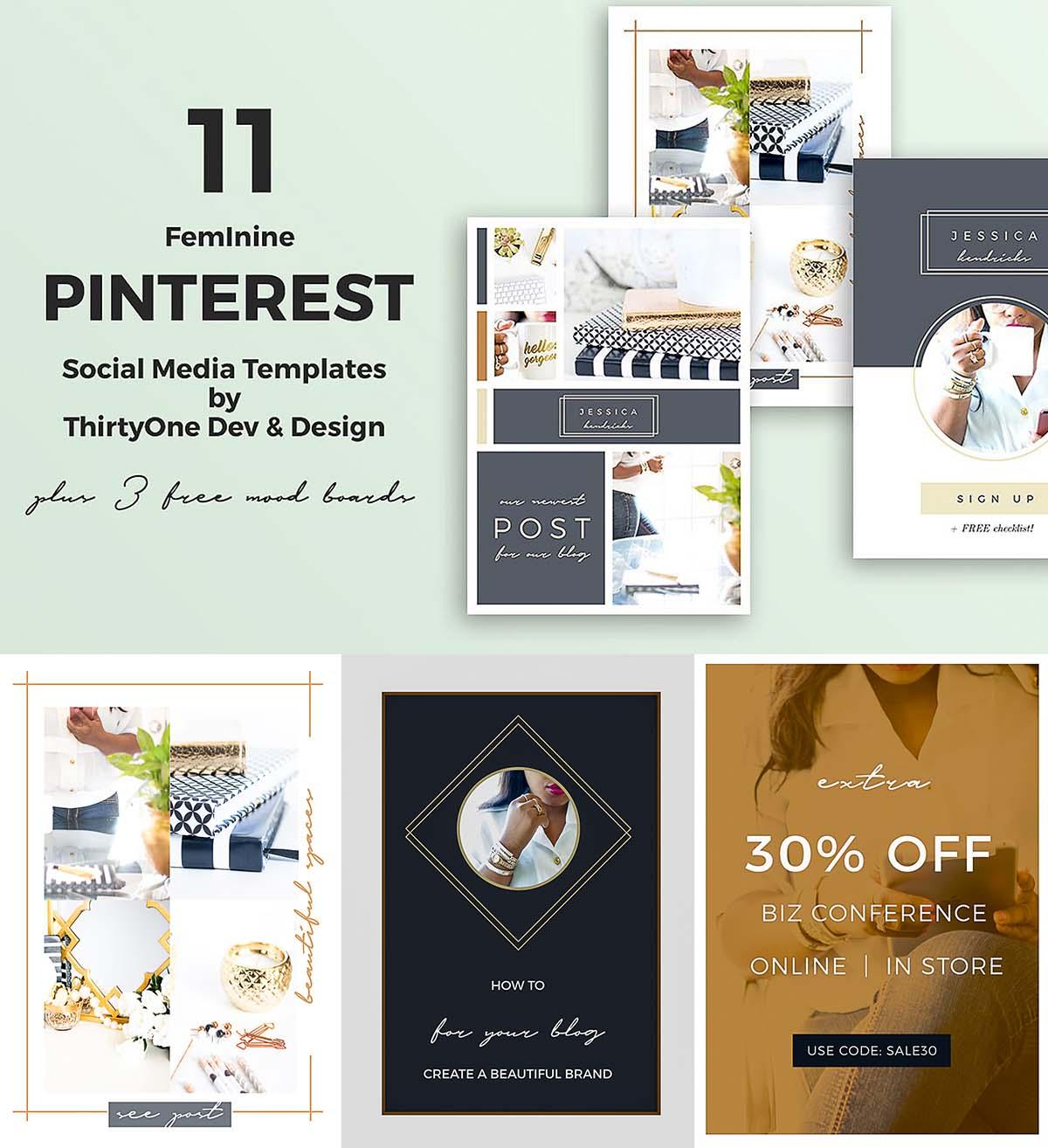 pinterest social media templates - Social Media Templates Free