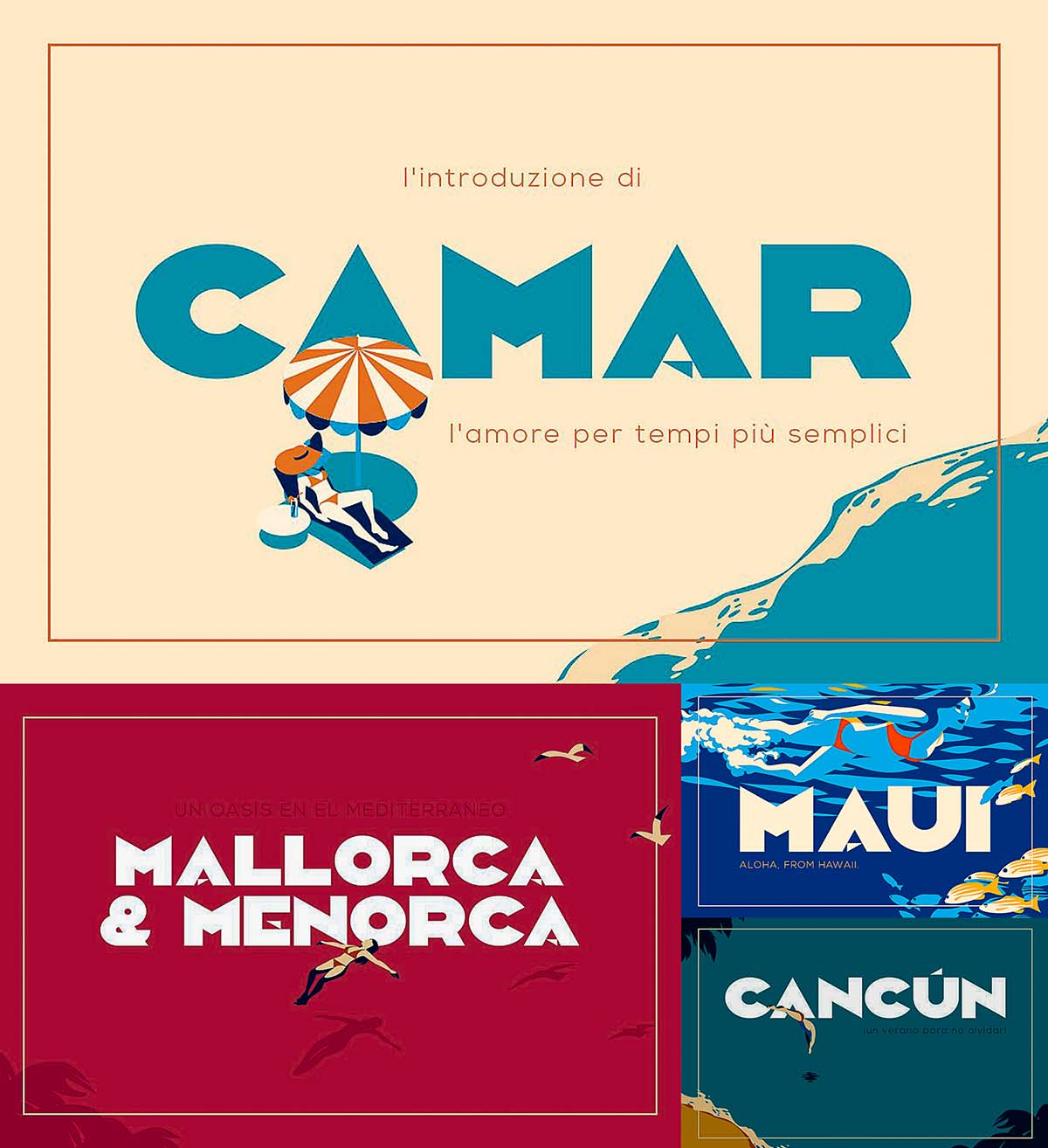 camar is a bold clean and simple all caps deco style inspired display font that is perfect for short strong words the file includes free for download