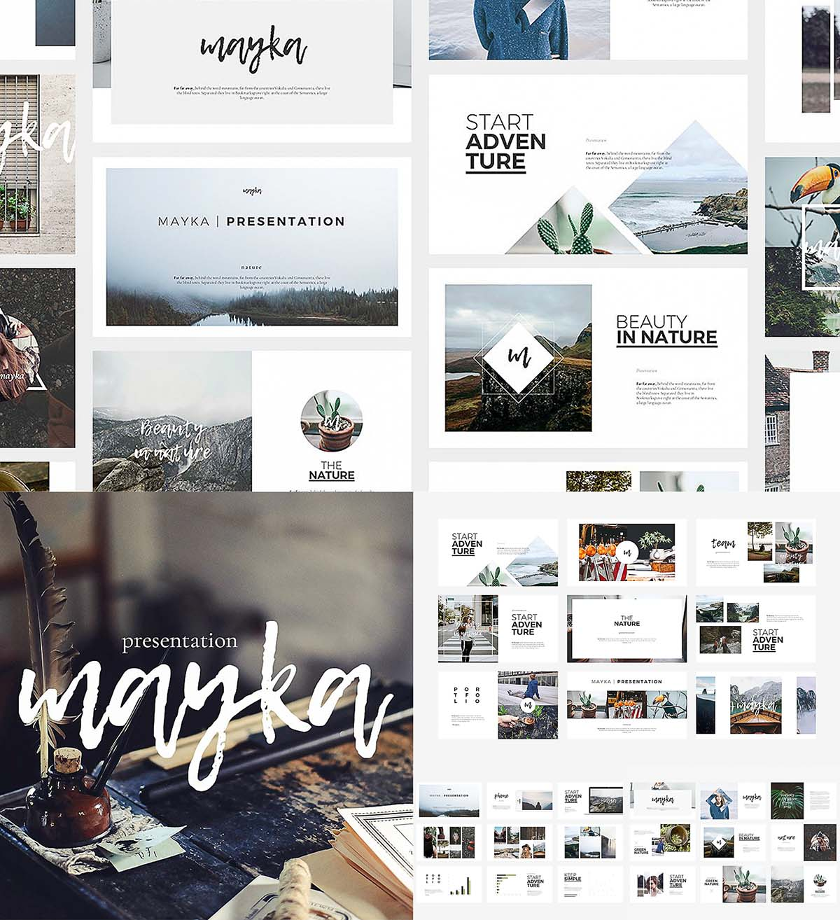Mayka powerpoint template free download mayka powerpoint template toneelgroepblik Gallery