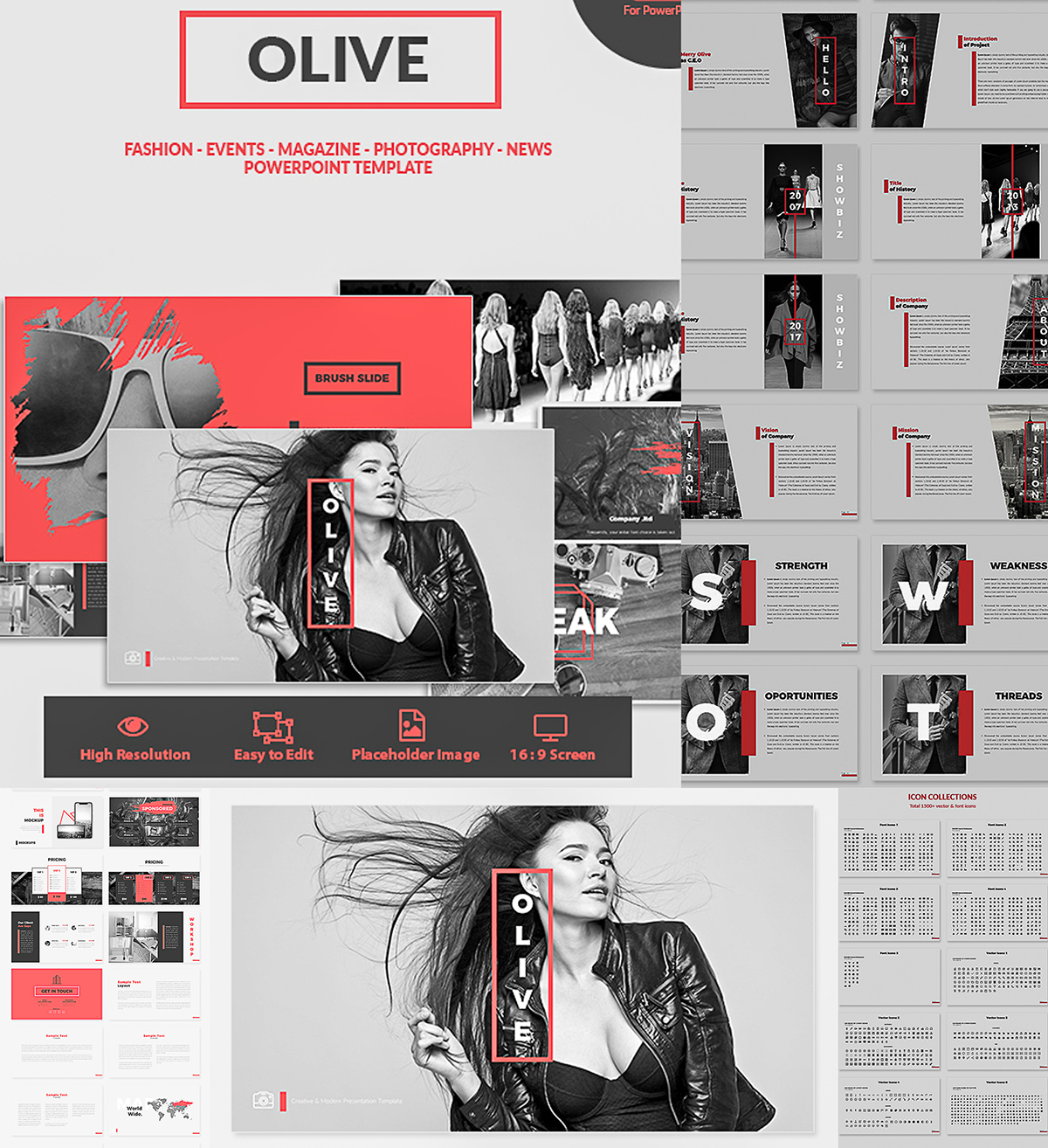 olive powerpoint template | free download, Powerpoint templates