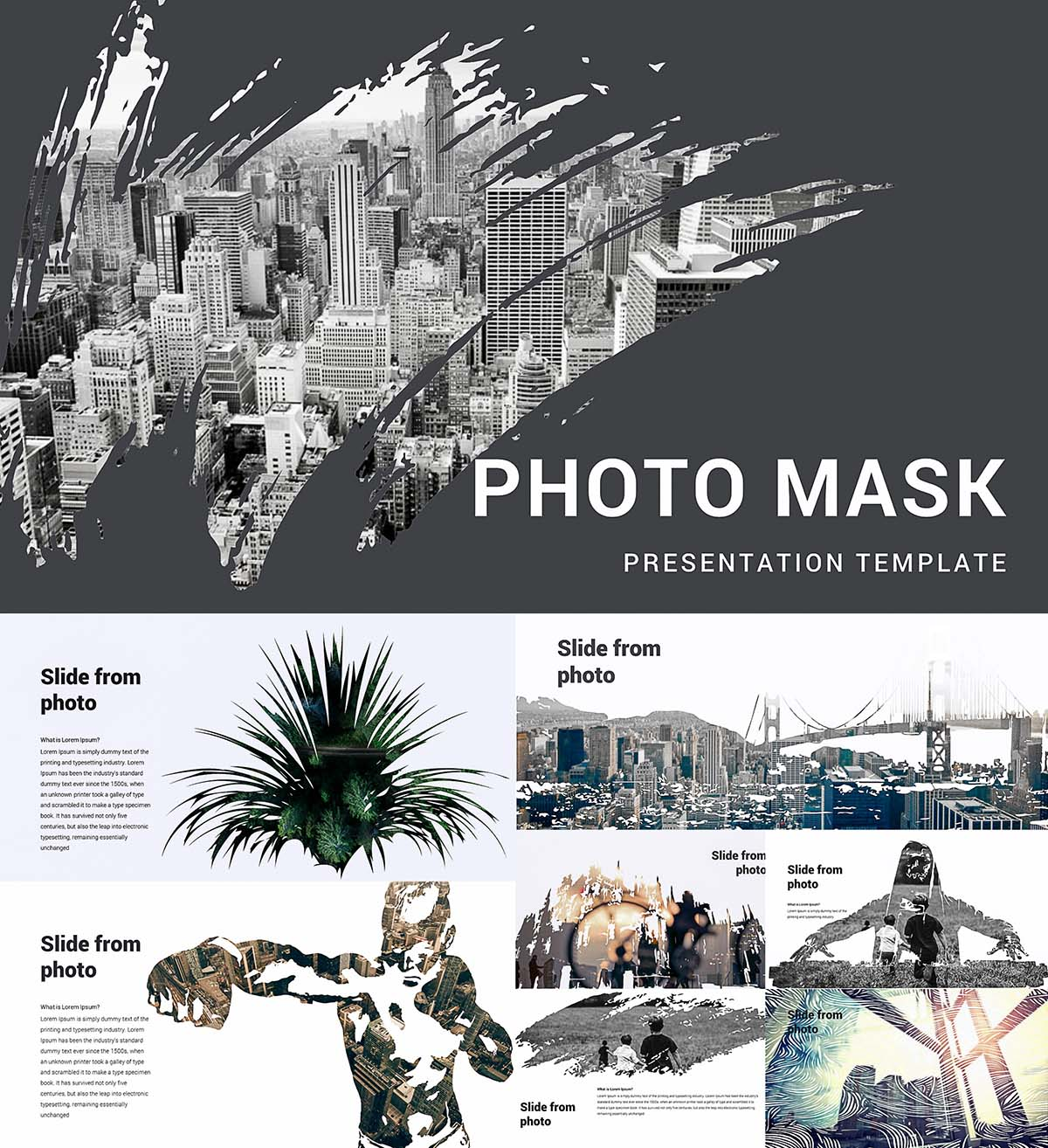 Photo mask powerpoint template free download photo mask powerpoint template toneelgroepblik Choice Image