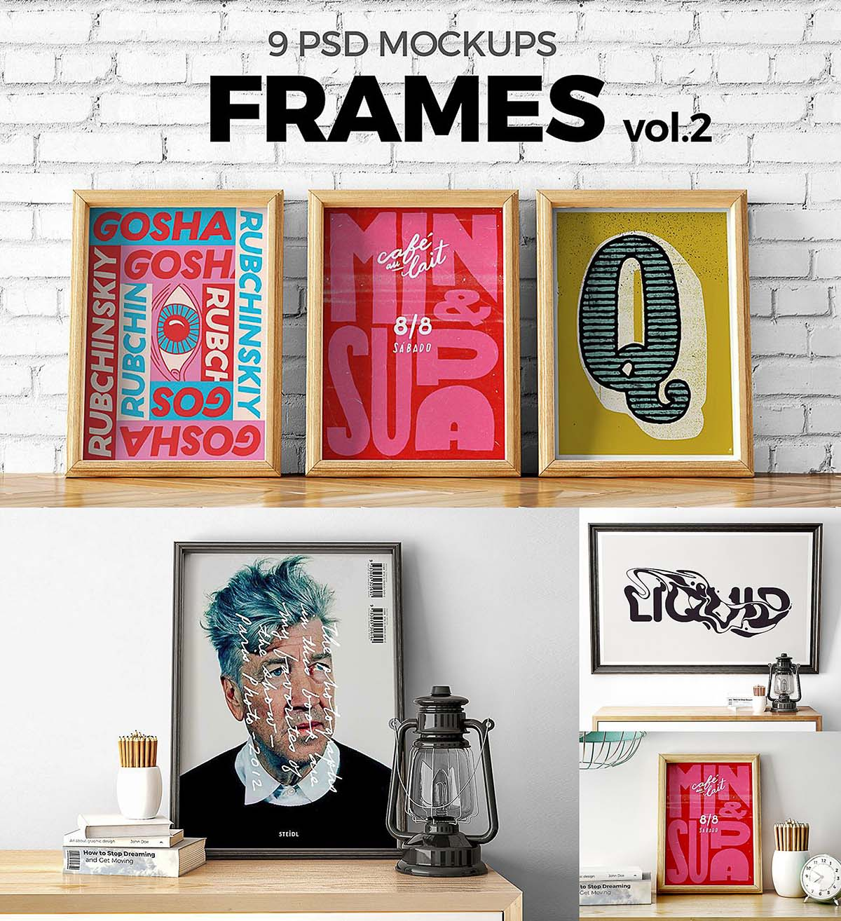 Poster frames mockup set | Free download