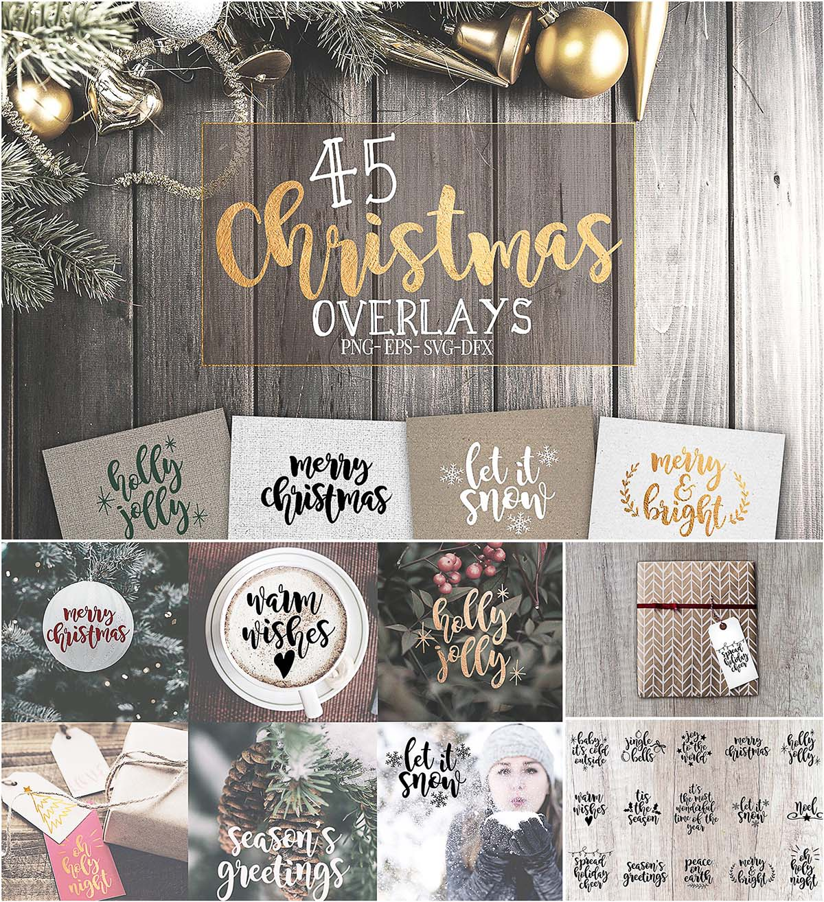 45 Christmas Svg Overlays Free Download