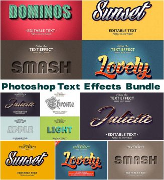 Photoshop text effects set | Free download