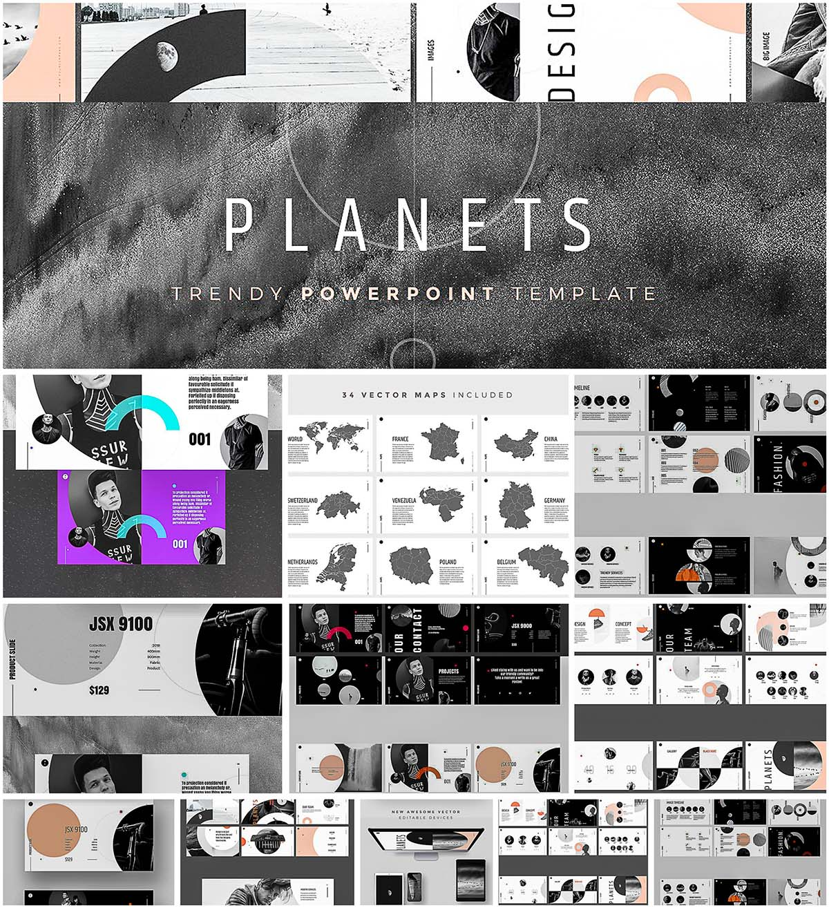 Planets powerpoint template free download planets powerpoint template toneelgroepblik Image collections