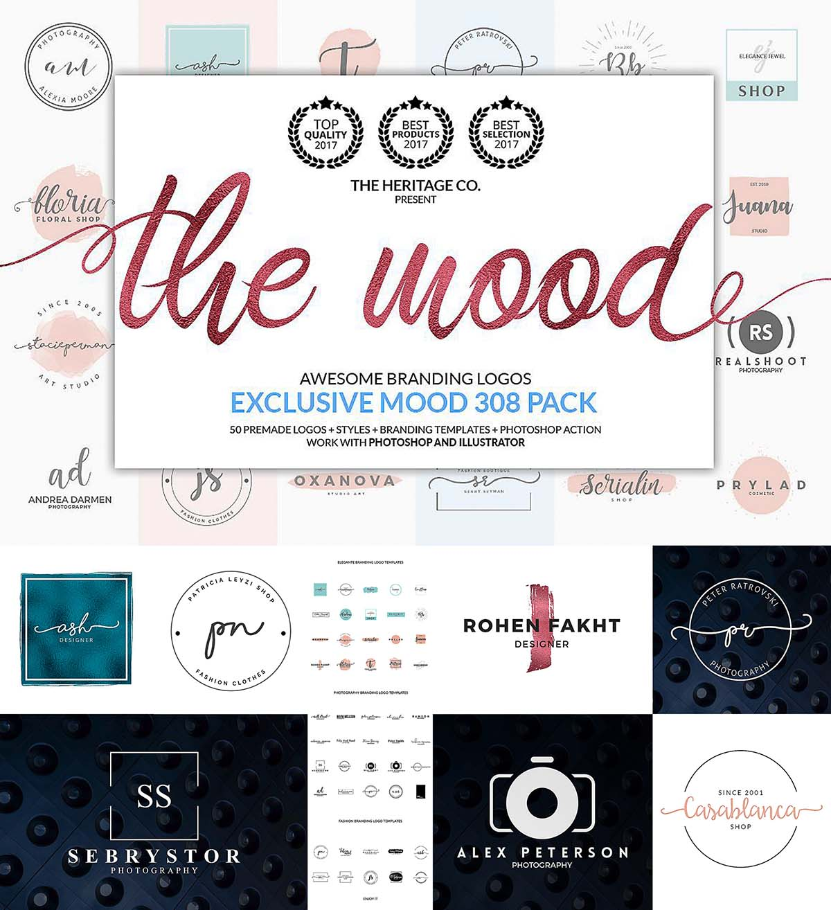 The mood branding logo templates | Free download