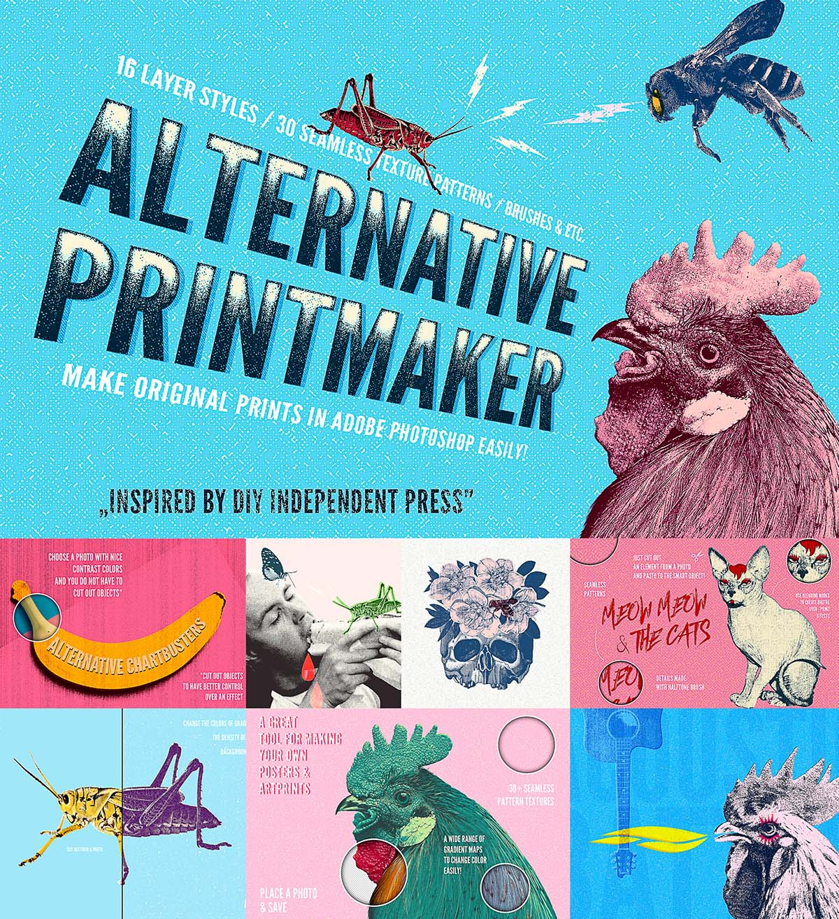 Alternative Printmaker Photoshop styles | Free download