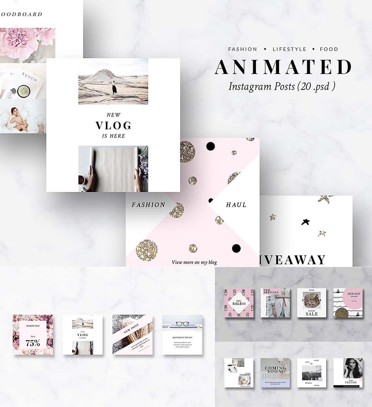 Animated Instagram Posts Templates | Free download
