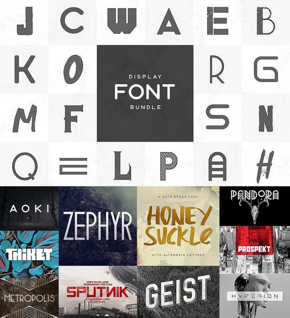 Download Display Fonts Bundle   Free download