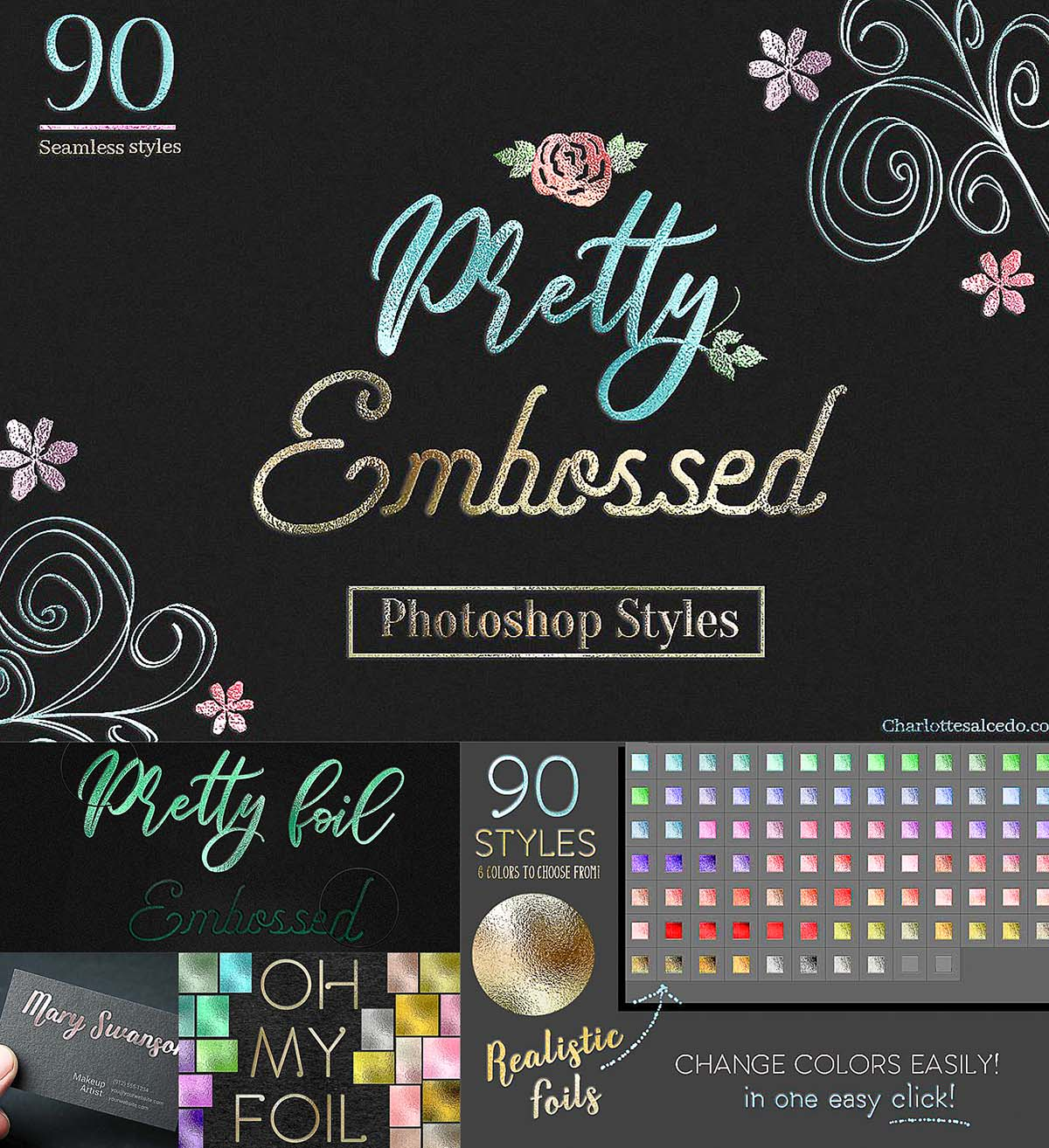Pretty Embossed PS styles | Free download
