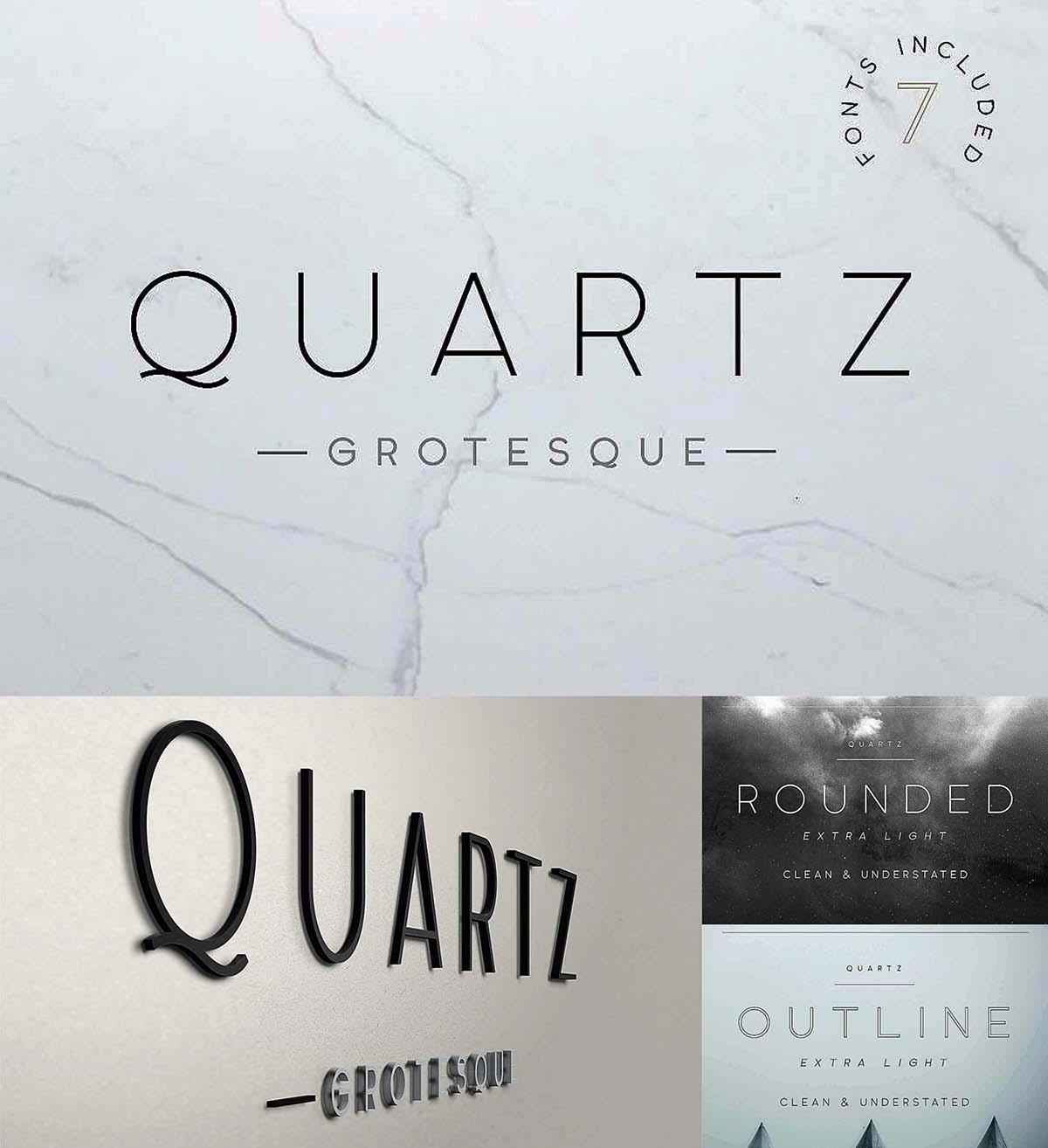 Quartz Grotesque 7 font styles   Free download