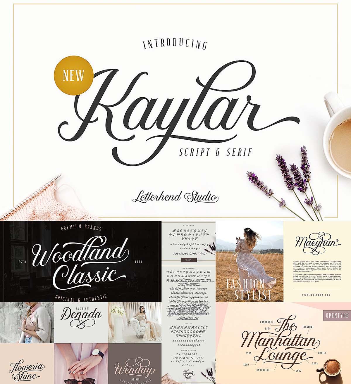 Kaylar Elegant Script Serif