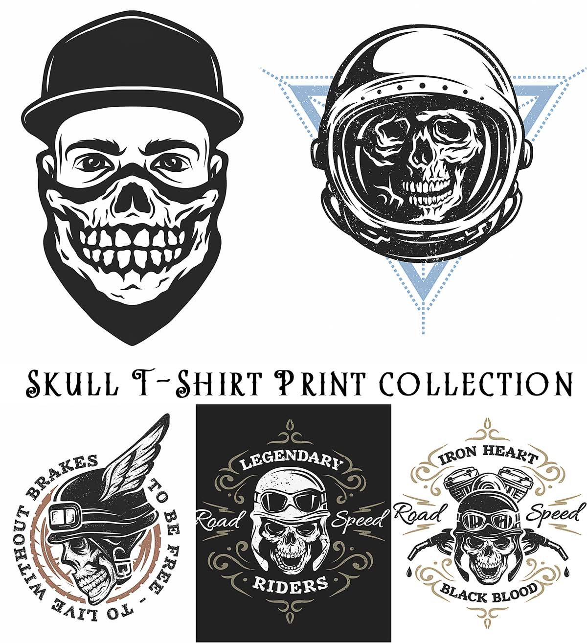 Skull T Shirt Print Collection Free Download