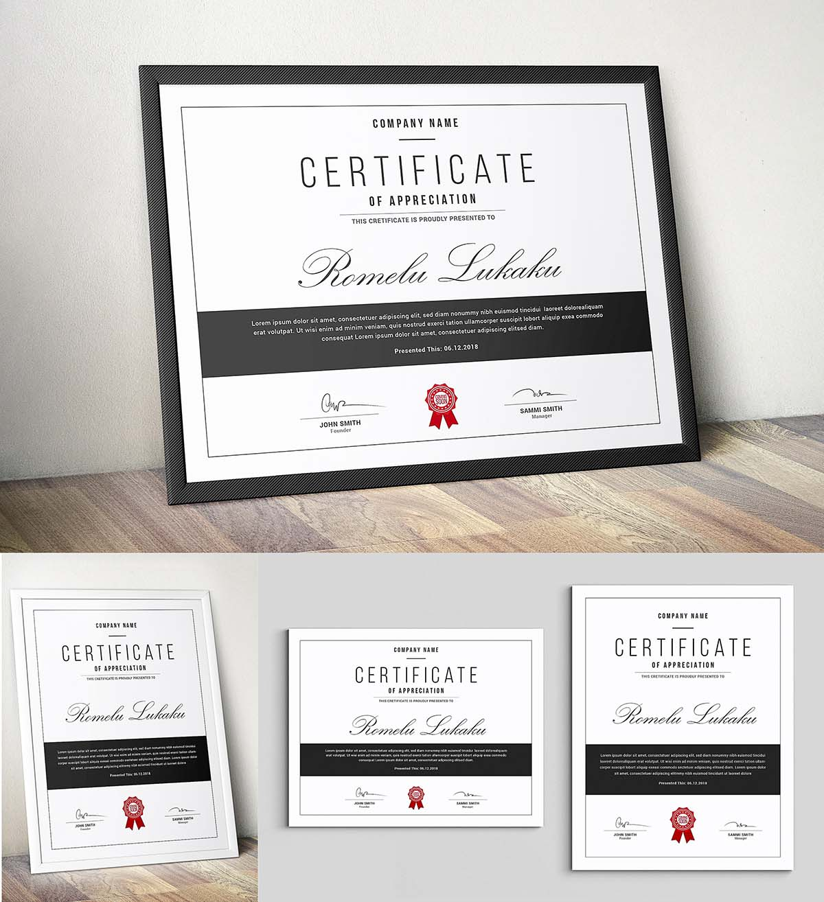 Certificate Template Psd Free Download