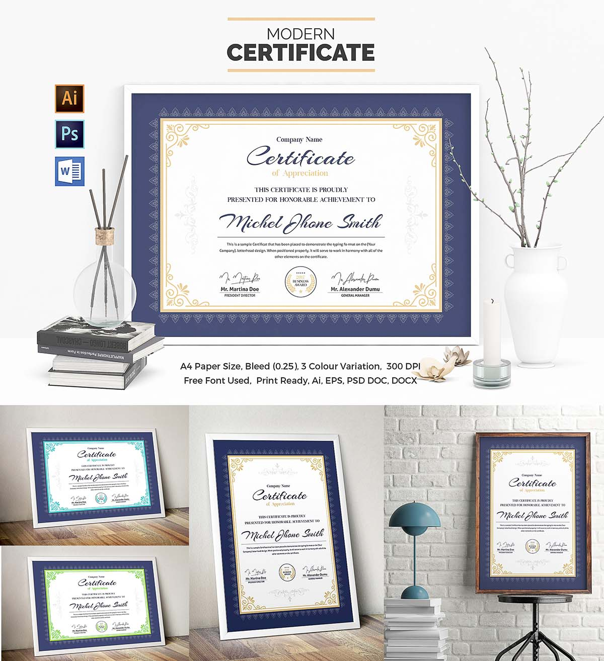 Certificate Template Set Free Download