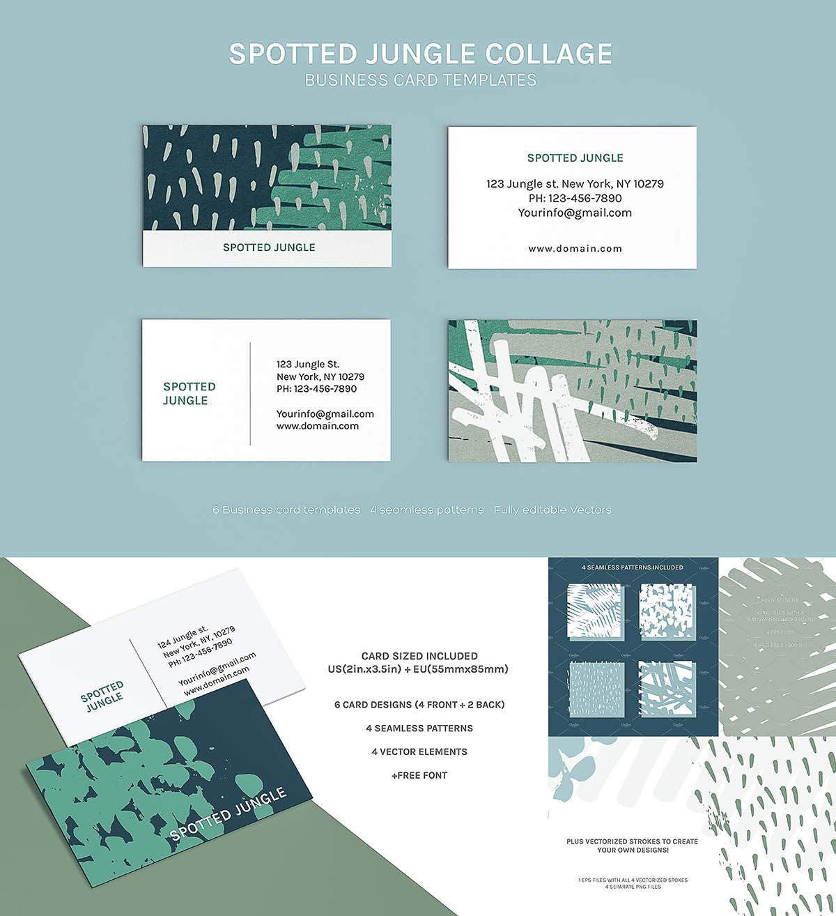 Paint stroke collage business cards free download paint stroke collage business cards colourmoves