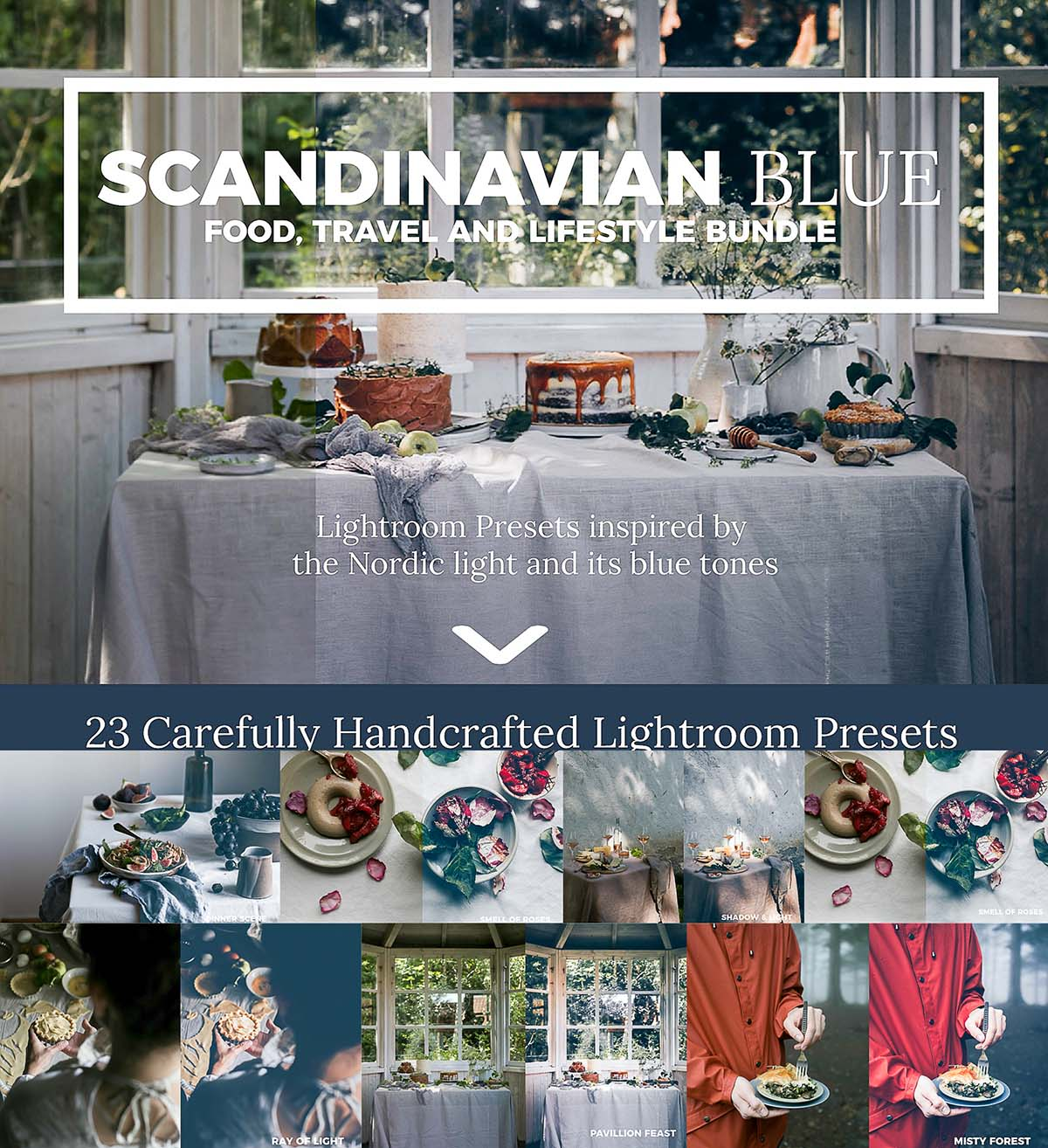 Scandinavian Blue Lightroom Presets Bundle | Free download