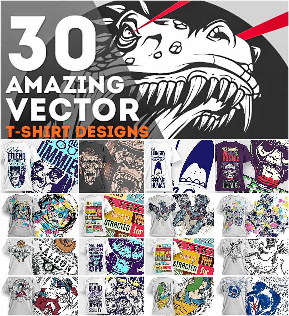 30 Jaw Dropping T Shirt Designs Free Download