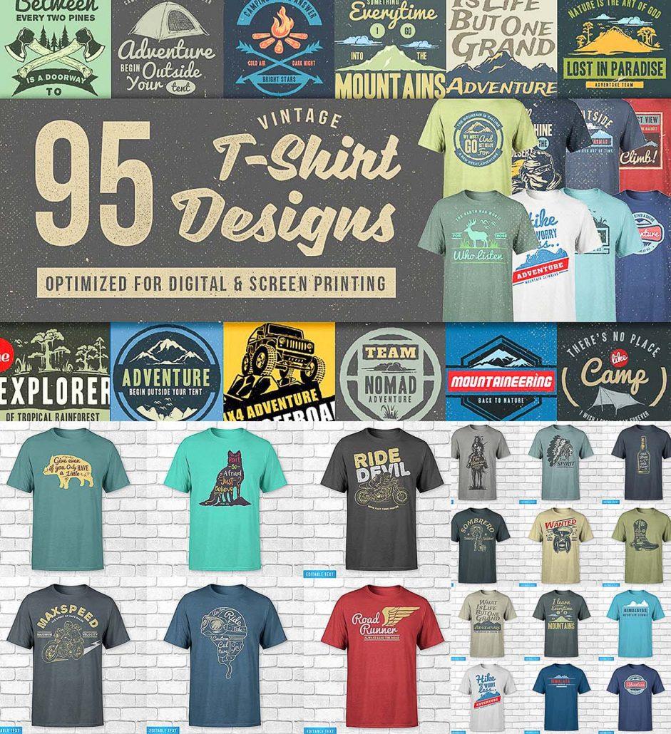 95 t shirt designs mega bundle free download for Design online