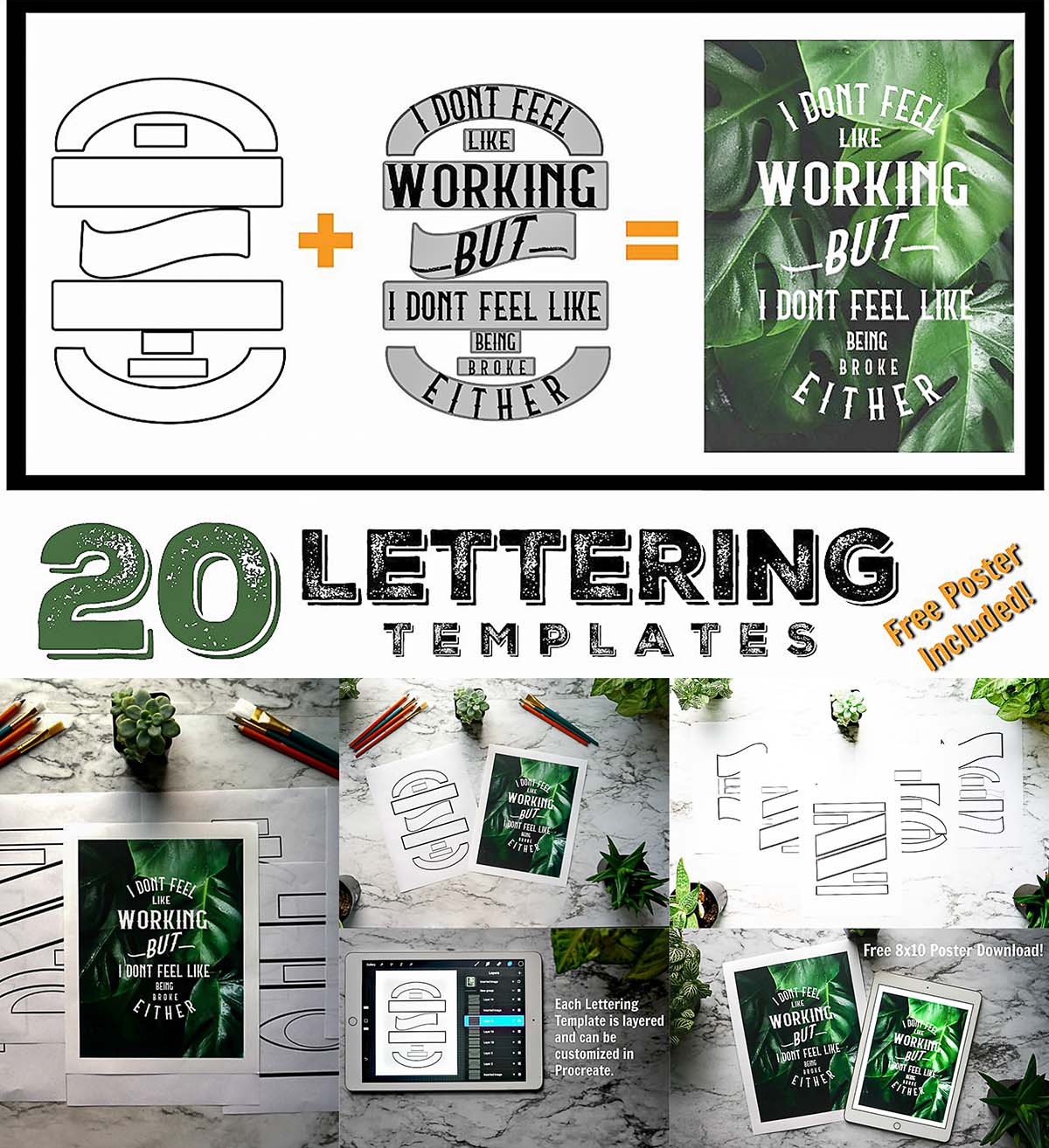 lettering composition templates free download