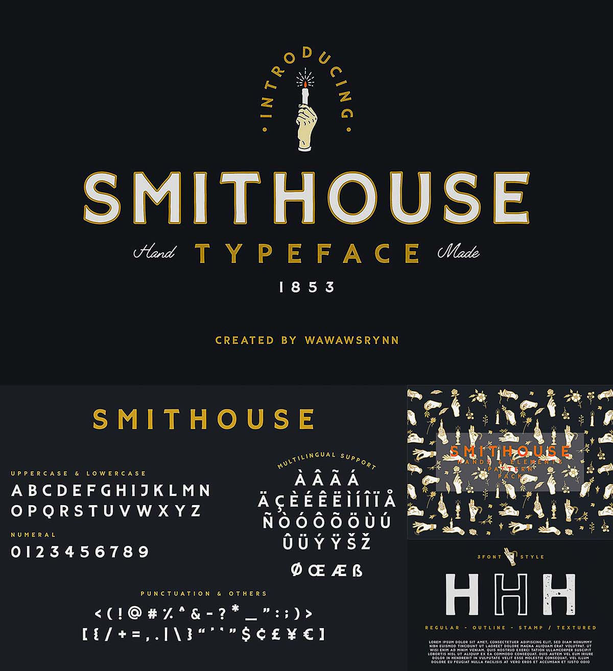 Smithouse font set with bonus | Free download