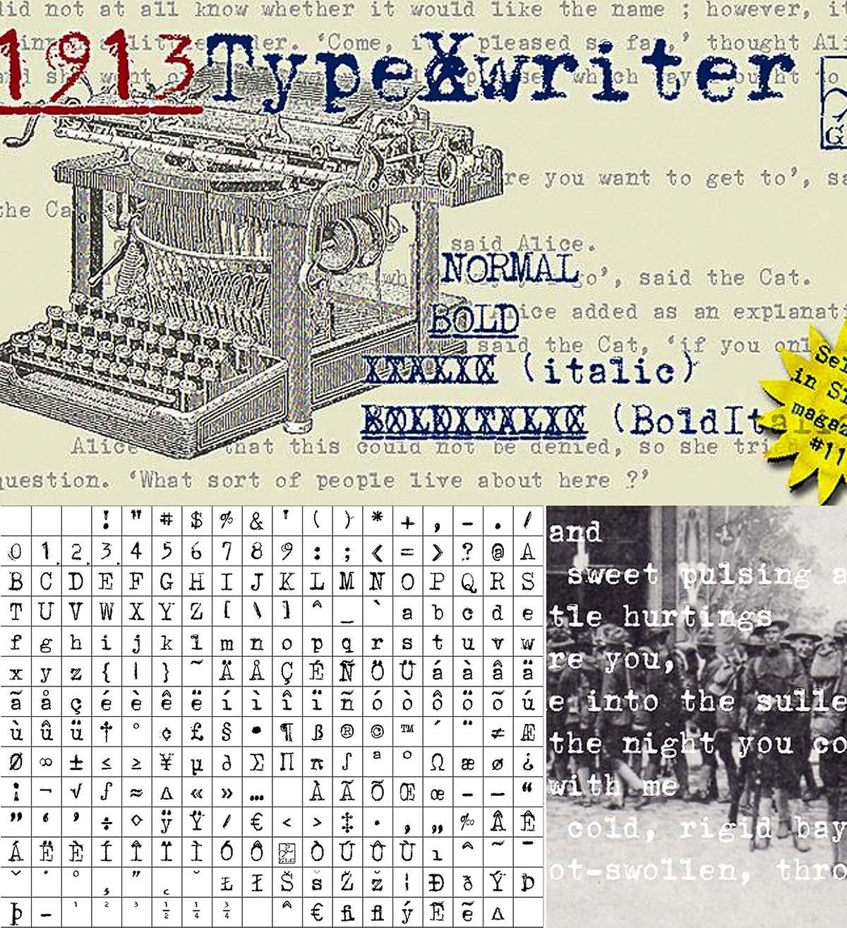1913 Typewriter styles | Free download