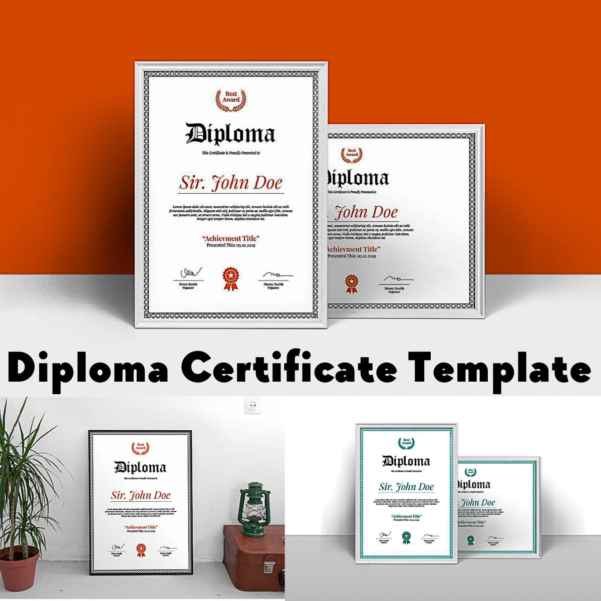 Diploma Certificate Template Free Download