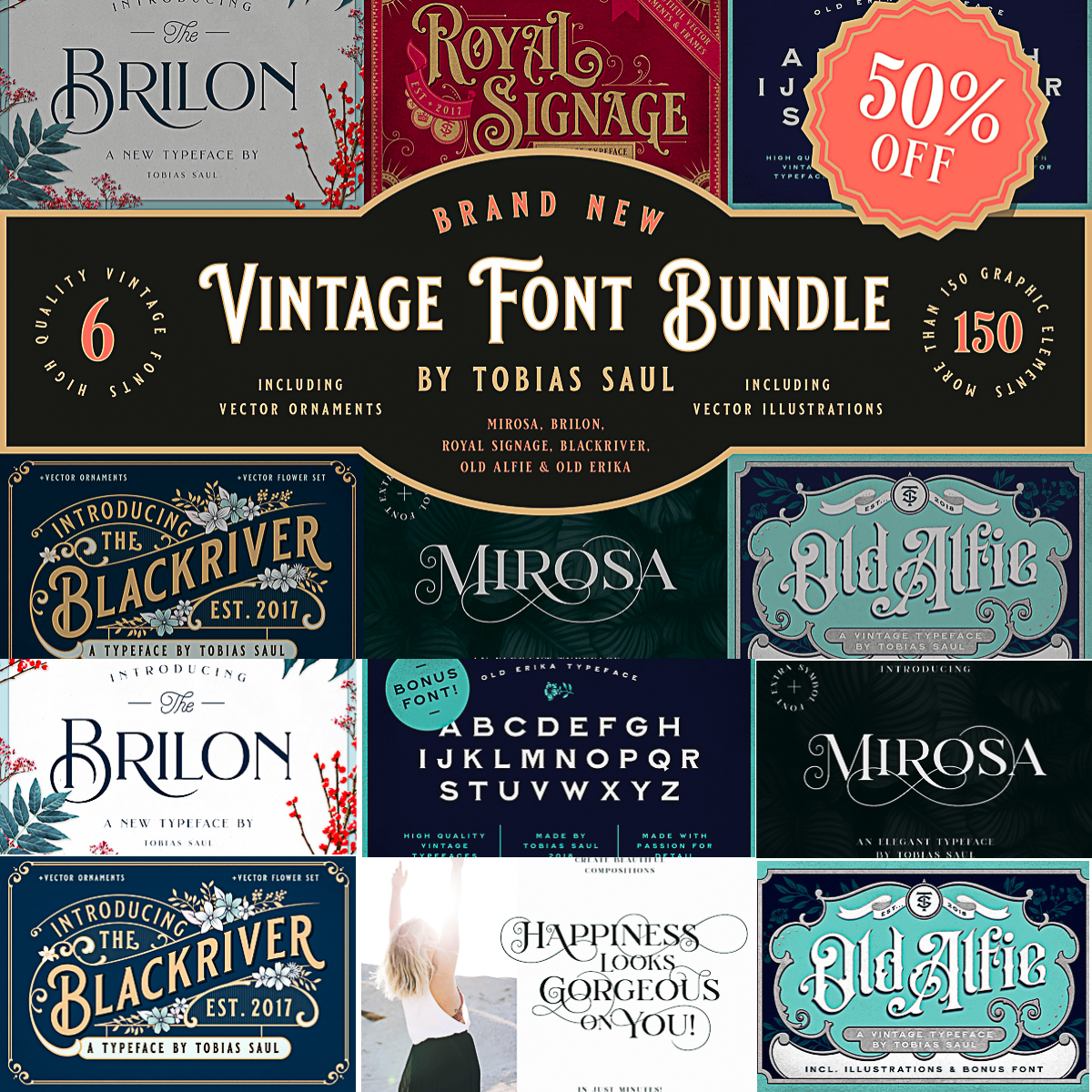 Download Vintage Font Bundle | Free download