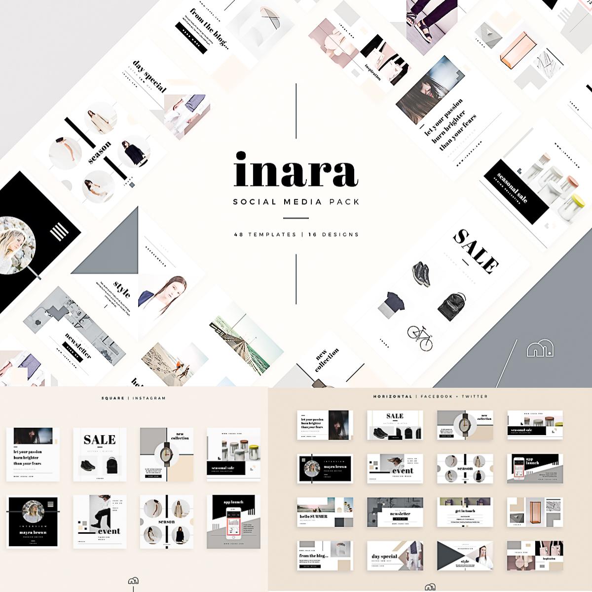 inara social media templates - Social Media Templates Free