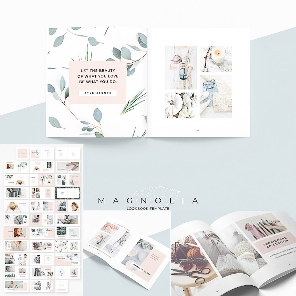 Magnolia Lookbook Template Free Download
